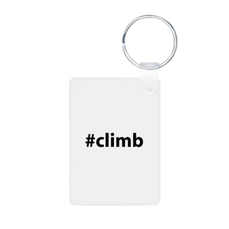 #climb Aluminum Photo Keychain