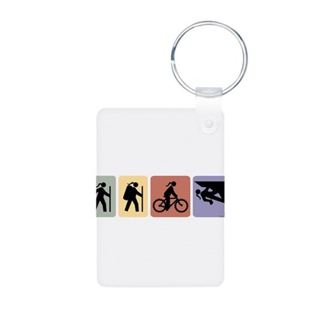 Multi Sport Gal Aluminum Photo Keychain