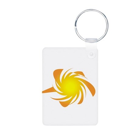 Funky Sun Aluminum Photo Keychain