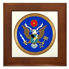 The Great Army SIGINT Seal Framed Tile