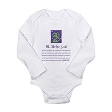 St. Urho 3:16 Long Sleeve Infant Bodysuit