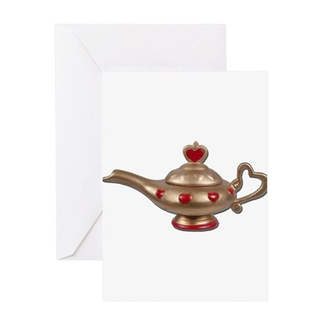 Genie Lamp Greeting Card