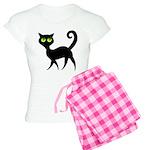Cat With Green Eyes Women's Light Pajamas