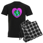 Love Our Planet Men's Dark Pajamas