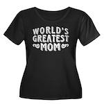 World's Greatest Mom Women's Plus Size Scoop Neck