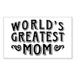 World's Greatest Mom Sticker (Rectangle)