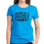 World's Greatest Aunt Women's Dark T-Shirt