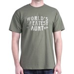 World's Greatest Aunt Dark T-Shirt