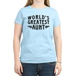 World's Greatest Aunt Women's Light T-Shirt