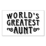 World's Greatest Aunt Sticker (Rectangle)
