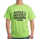 World's Greatest Grandpa Green T-Shirt