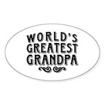 World's Greatest Grandpa Sticker (Oval)