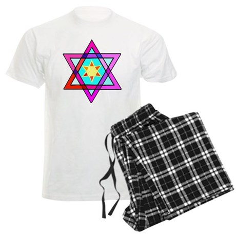 Jewish Star Of David Men's Light Pajamas