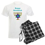 Happy Hanukkah Men's Light Pajamas