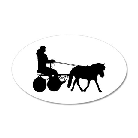 driving silhouette 20x12 Oval Wall Decal