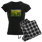 Sunflower Cluster Women's Dark Pajamas
