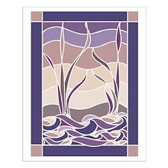 Sunset Marsh Batik Small Poster