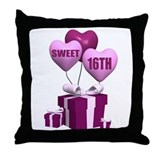 16th Birthday Throw Pillow