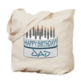 Happy Birthday Dad Tote Bag