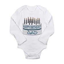 Happy Birthday Dad Long Sleeve Infant Bodysuit