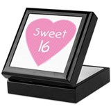 Sweet (16) Sixteen Birthday Keepsake Box