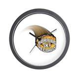 Burning Sky Records Logo Wall Clock