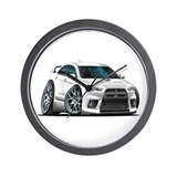 Mitsubishi Evo White Car Wall Clock