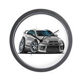 Mitsubishi Evo Silver Car Wall Clock
