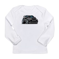 Mitsubishi Evo Black Car Long Sleeve Infant T-Shir