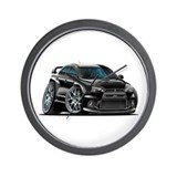 Mitsubishi Evo Black Car Wall Clock