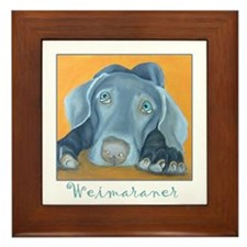 Weimaraner Art Framed Tile