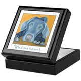 Weimaraner Art Keepsake Box