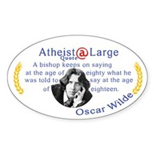 oscar wilde quote bishop Decal
