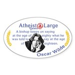 oscar wilde quote bishop Sticker (Oval)