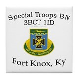 3BCT Special Troops Bn 1ID Tile Coaster