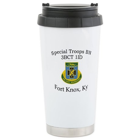 3BCT Special Troops Bn 1ID Ceramic Travel Mug