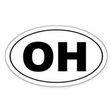 OH the first half of OHIO Oval Decal