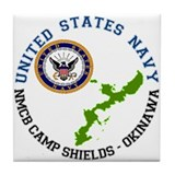 NMCB Cp. Shields Tile Coaster