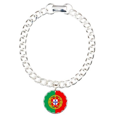 Portuguese, Flag of Portugal Charm Bracelet, One C