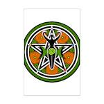 Green Goddess Pentacle Mini Poster Print