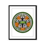 Green Goddess Pentacle Framed Panel Print