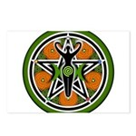 Green Goddess Pentacle Postcards (Package of 8)