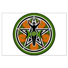 Green Goddess Pentacle Posters