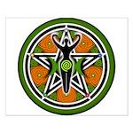 Green Goddess Pentacle Small Poster