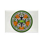 Green Goddess Pentacle Rectangle Magnet (100 pack)