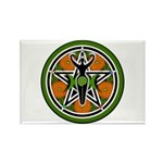 Green Goddess Pentacle Rectangle Magnet