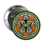 """Green Goddess Pentacle 2.25"""" Button (10 pack)"""