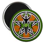 Green Goddess Pentacle Magnet