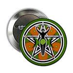 """Green Goddess Pentacle 2.25"""" Button"""