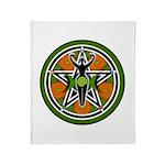 Green Goddess Pentacle Throw Blanket